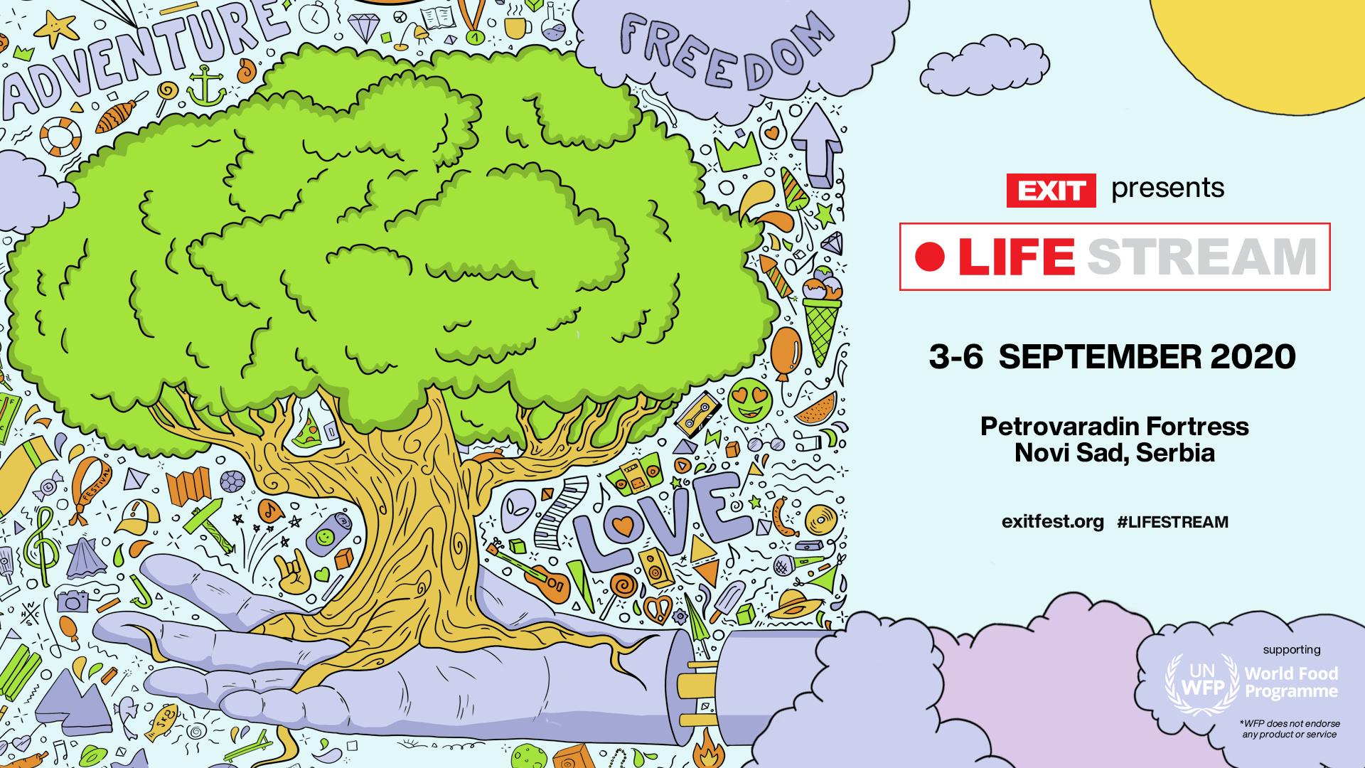 Насърчавайки подкрепа за онези, които са най-силно засегнати от пандемията, EXIT фестивал застава зад Световната хранителна програма на ООН чрез проекта Life Stream