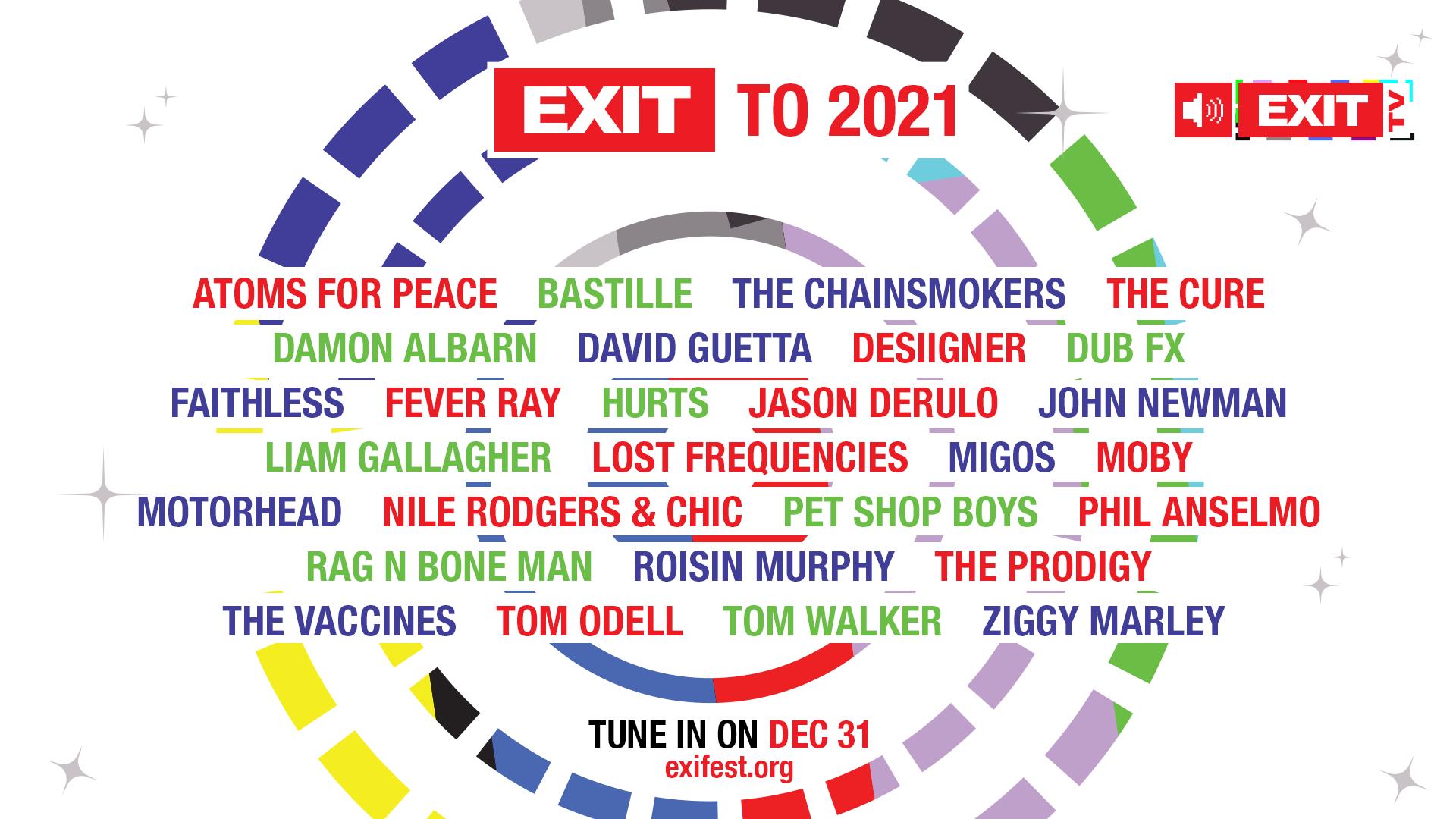 EXIT to 2021: Влезте в Нова година с The Prodigy, The Cure, David Guetta, Migos и много други!