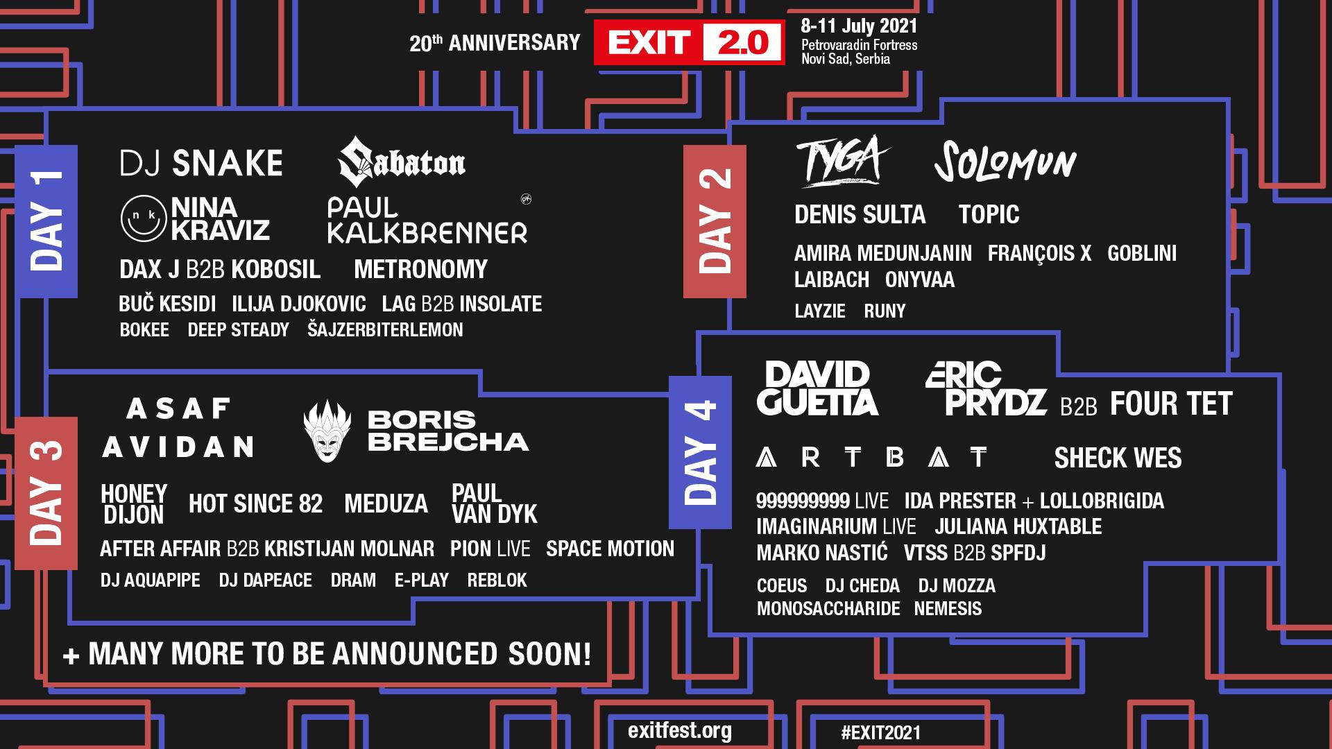20 нови имена за 20 годишнината на EXIT Festival! Asaf Avidan, Artbat, Meduza, Sabaton, Hot Since  82 и много други